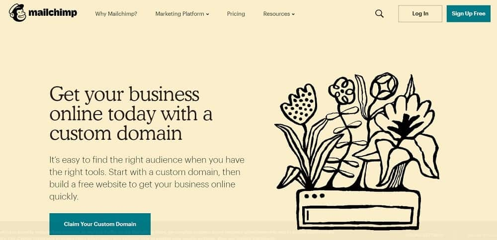 Screenshot of the Mailchimp Email Marketing Software.