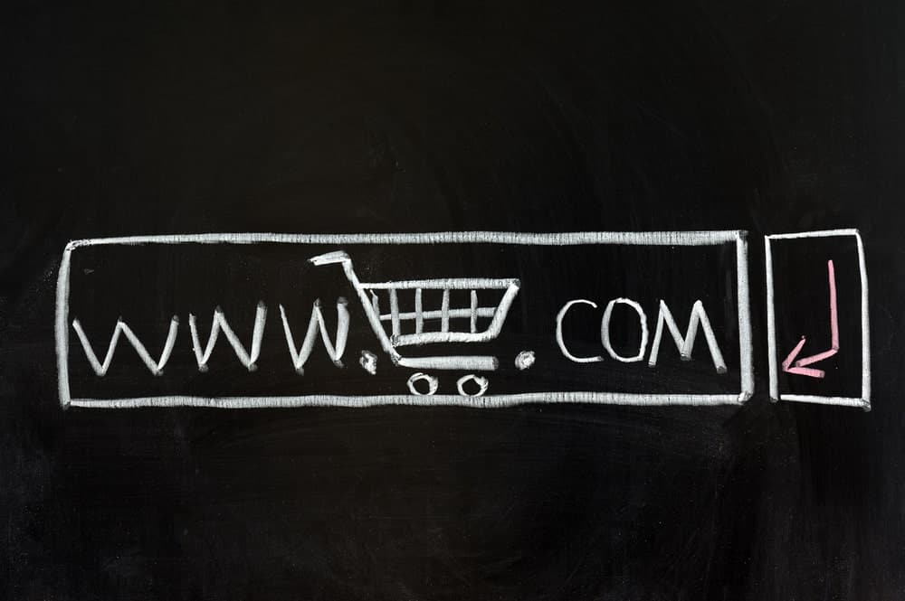 A chalk illustration of an e-commerce website platform.