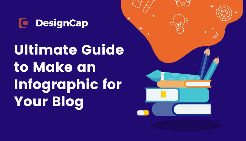 A colorful infographic depicting the ultimate guide to Designcap.