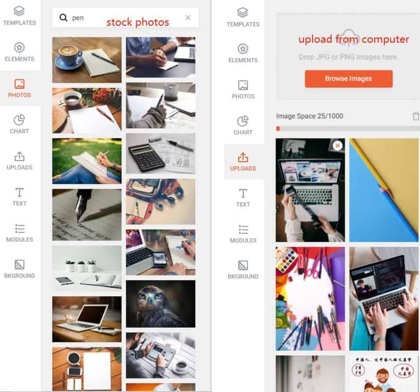 This is a screenshot of enhancing photos in Designcap.