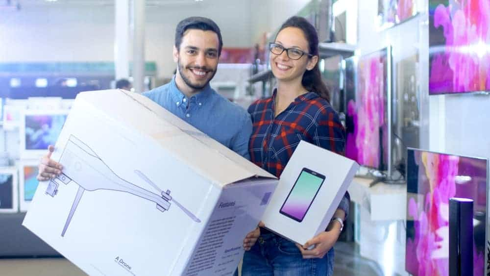 Commercial consumers on a gadget shopping spree.