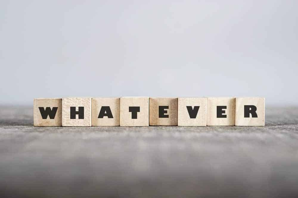 Wooden blocks of letters forming the word