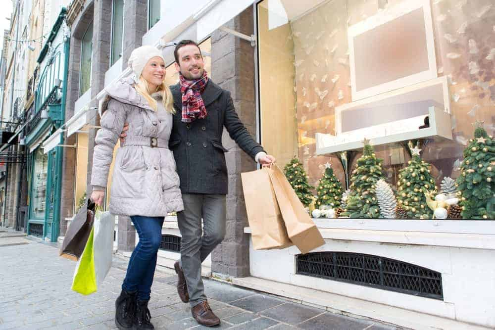 Seasonal consumers go out during the Christmas season to shop for gifts.