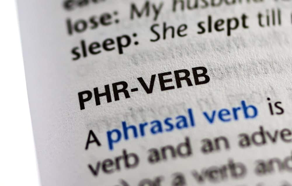 Phrasal verb word from a dictionary.