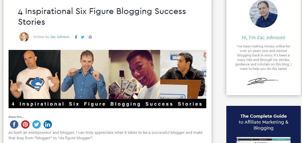 Inspirational blog post ideas