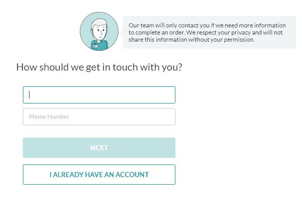 Screenshot of ZenBusiness contact information form.