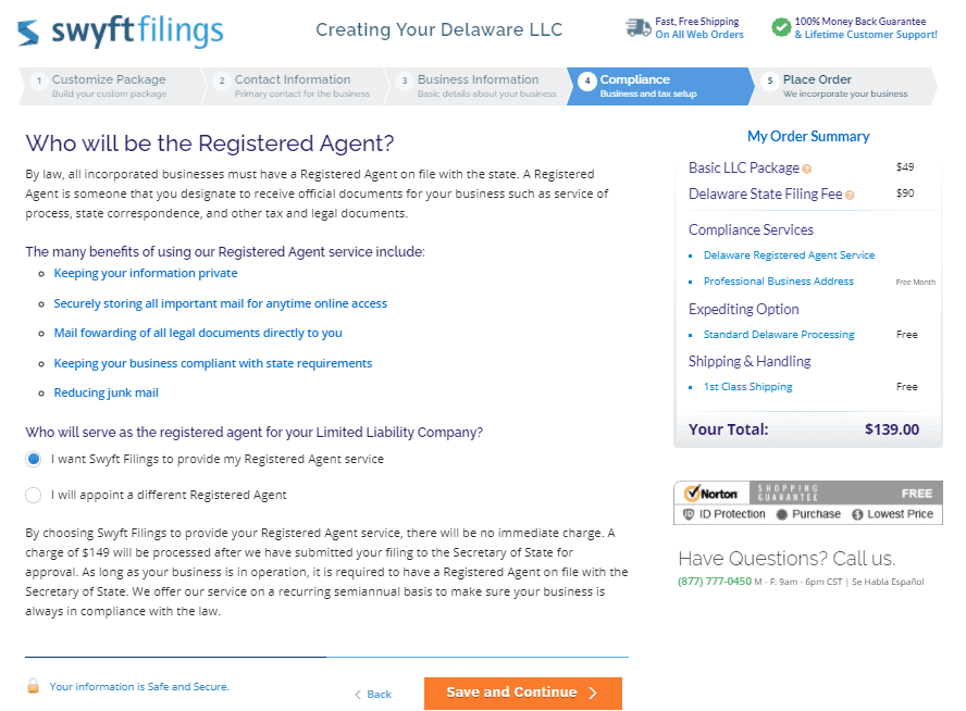 Registered agents.