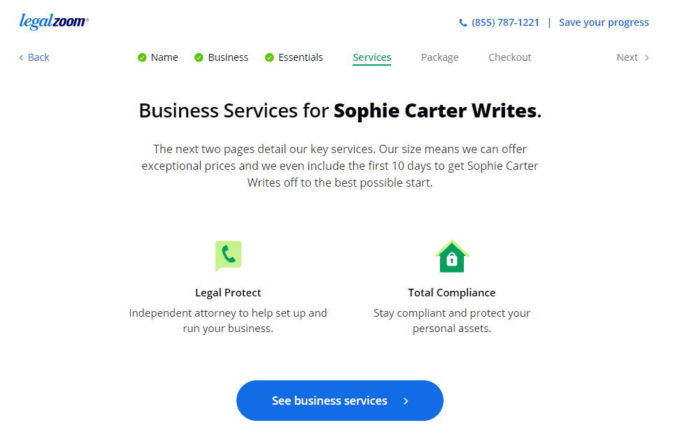 Business Services offered