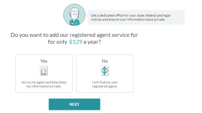 Registered agent service at ZenBusiness.