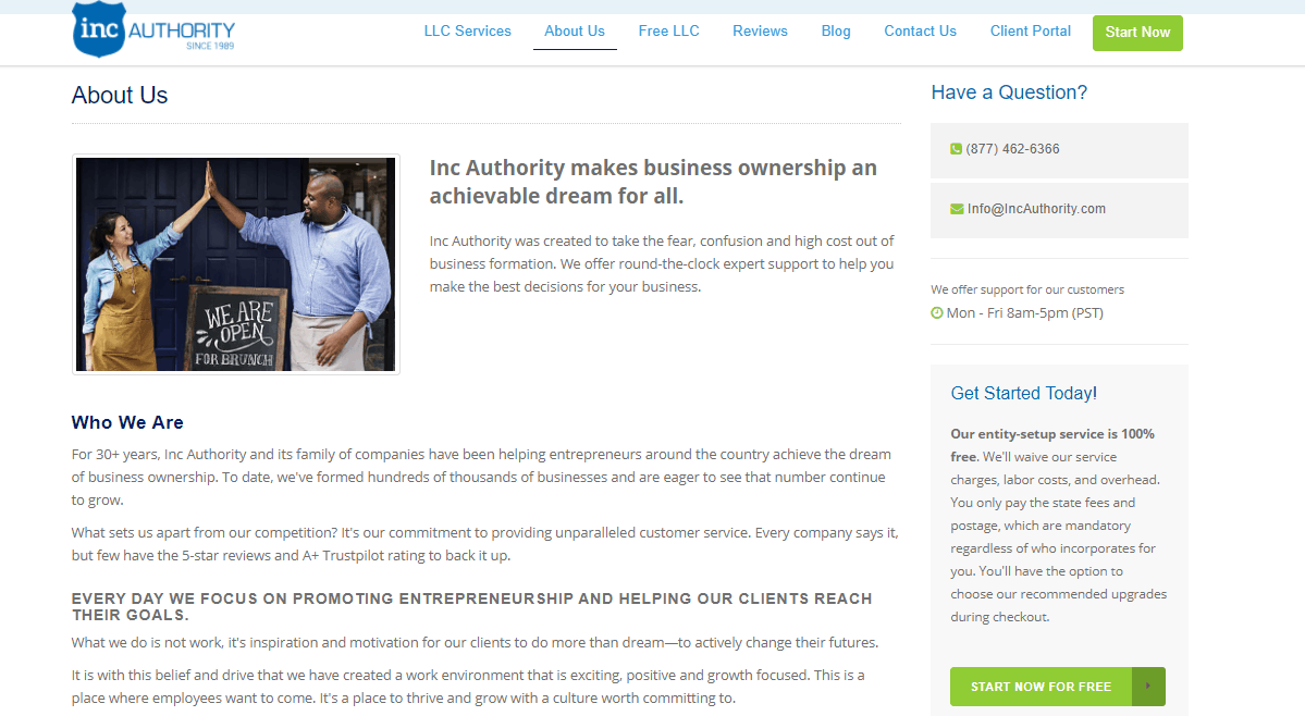 About Inc Auhority
