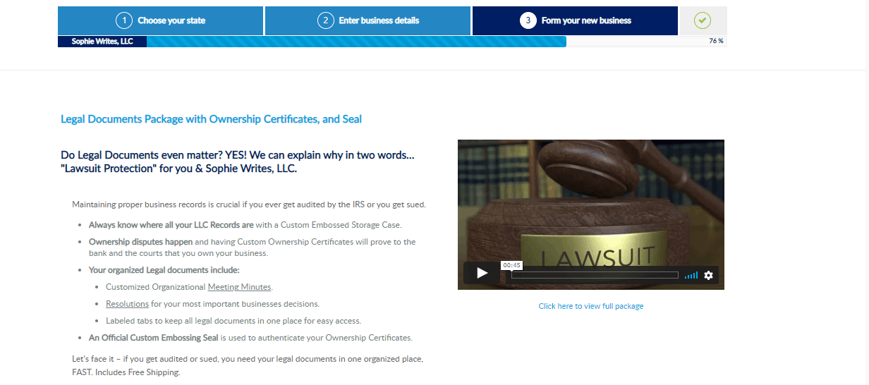 have your legal documents in order