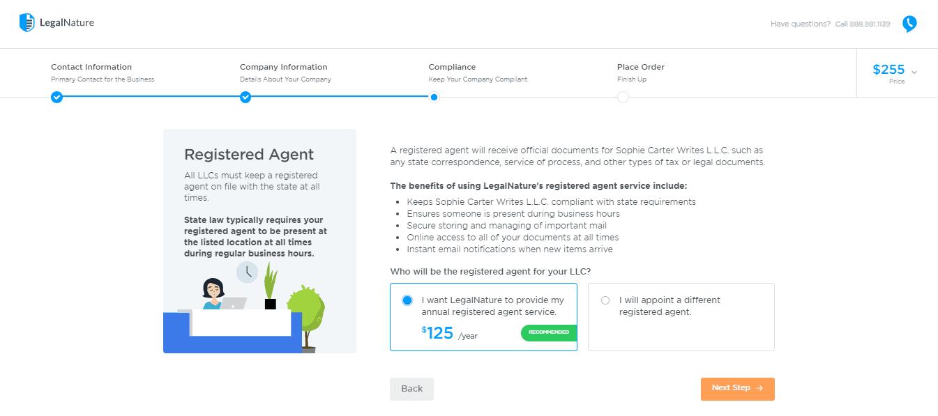 Registered Agent at LegalNature
