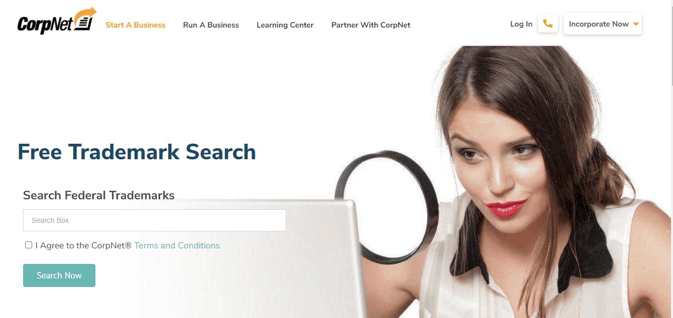 Corpnet Trademartk Search