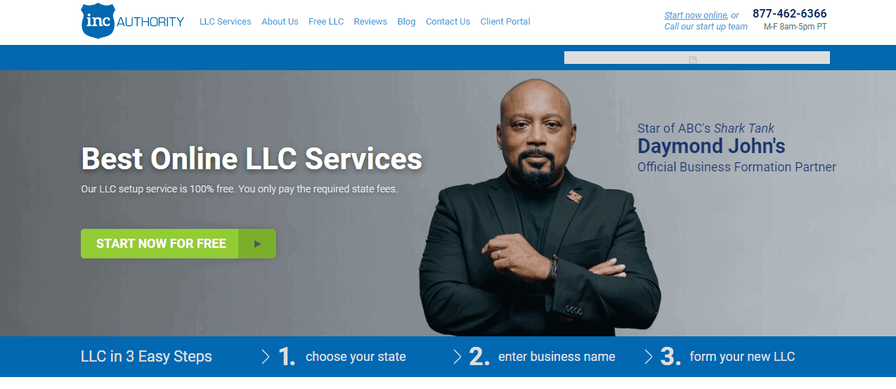 Inc Authority Start Page
