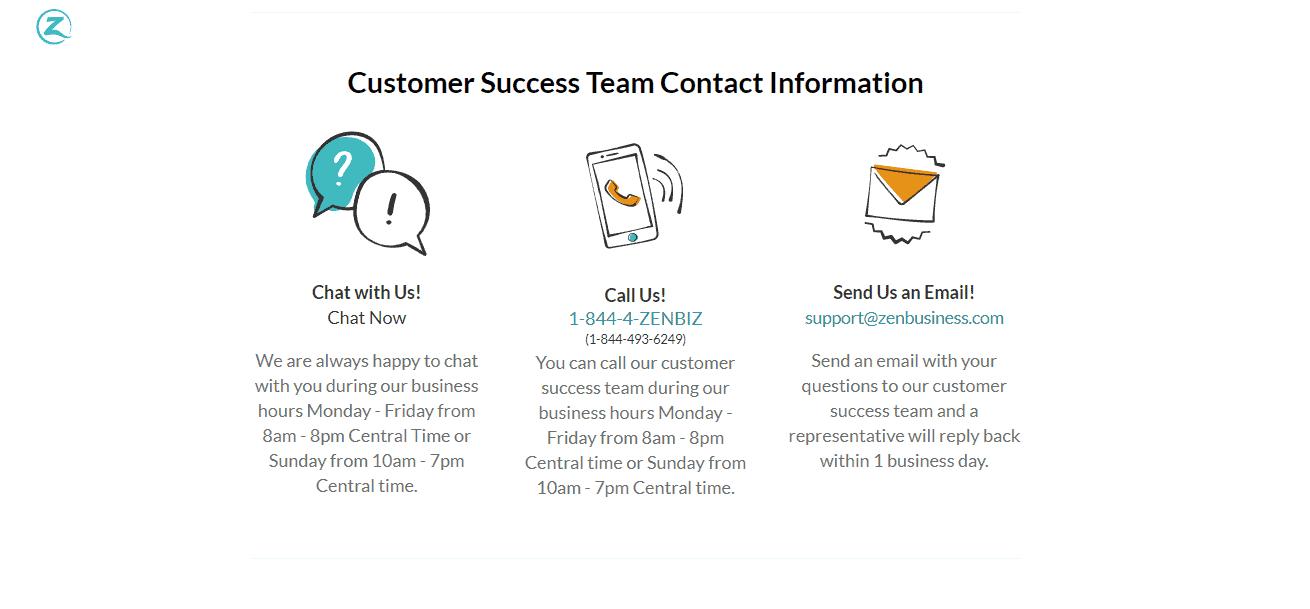 ZenBusiness Contact Info