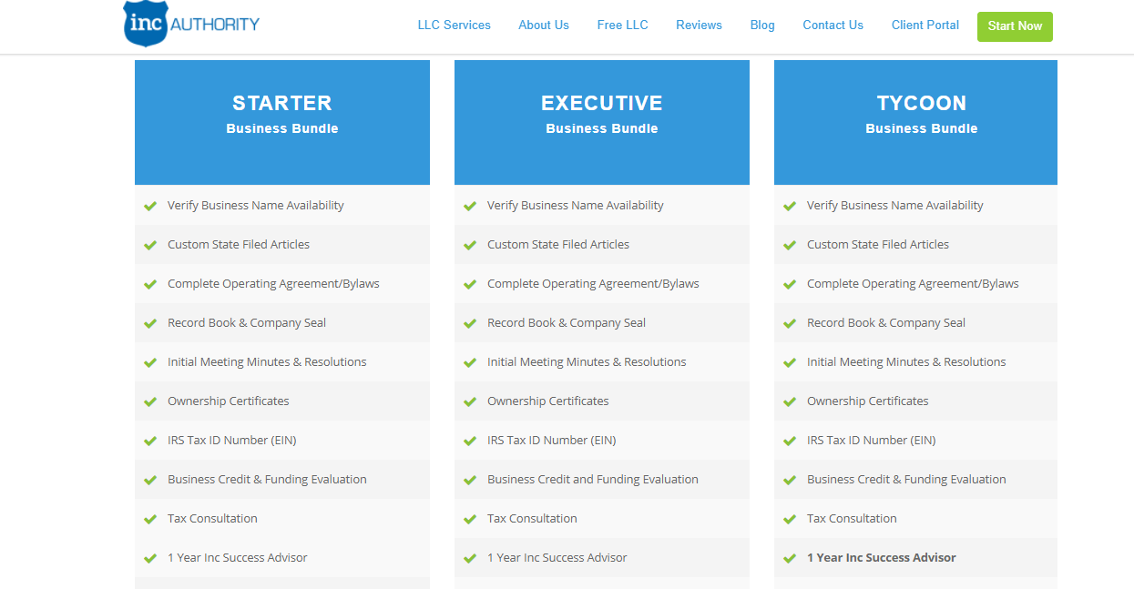 Inc Authority Packages