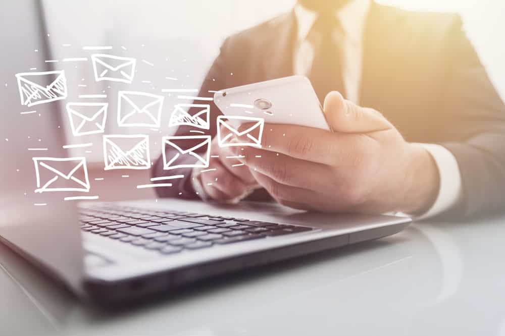 Email newsletter and marketing concept.