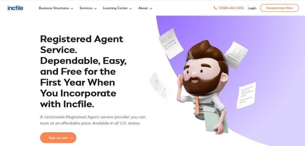 IncFile registered agent.