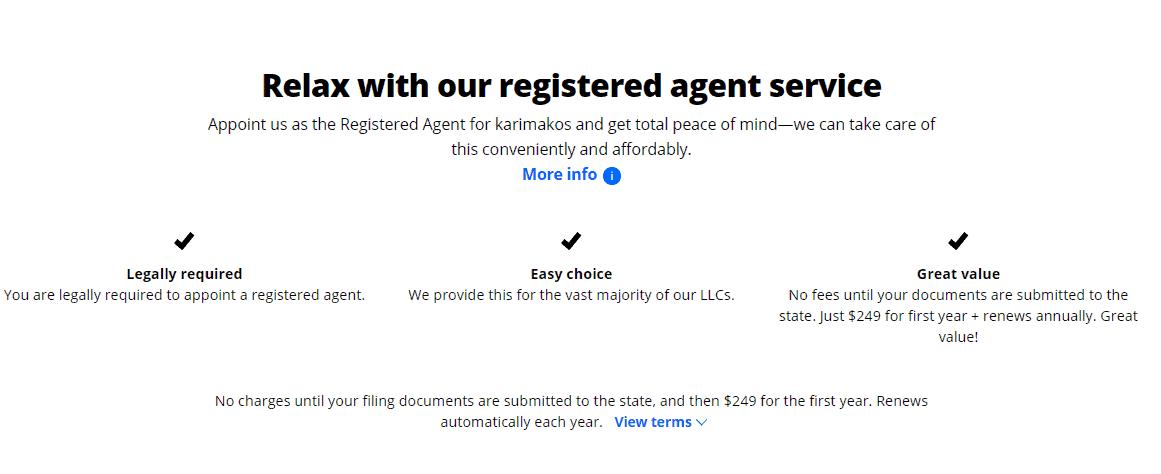 LegalZoom Registered Agent Service