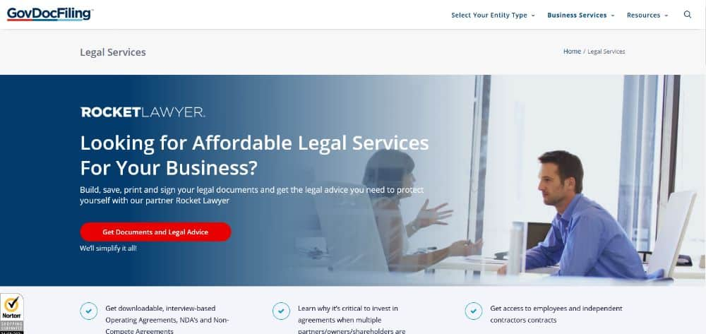 Legal services for your business.