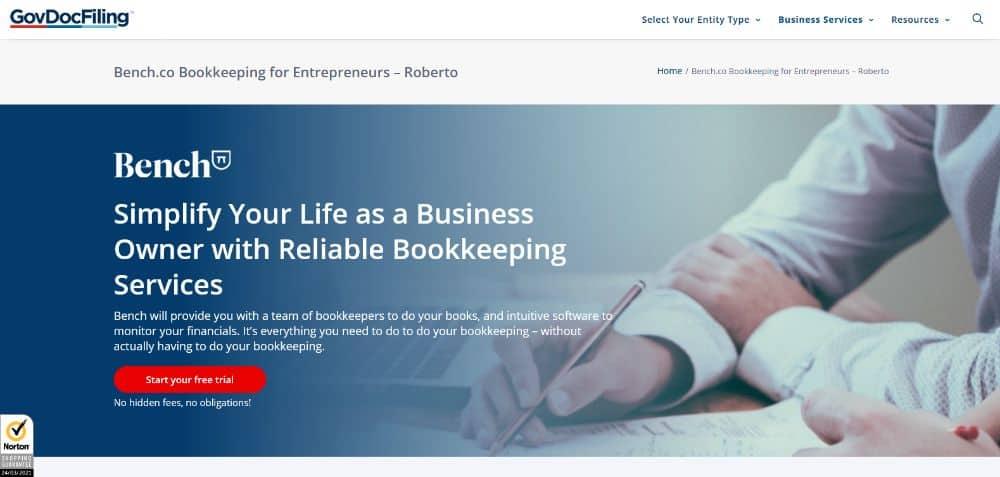 GovDocFiling Bookkeeper.