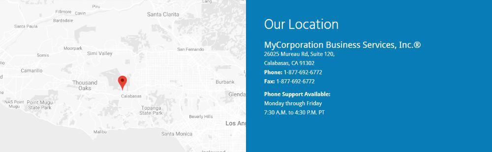 MyCorporation Physical Address and Contacts.