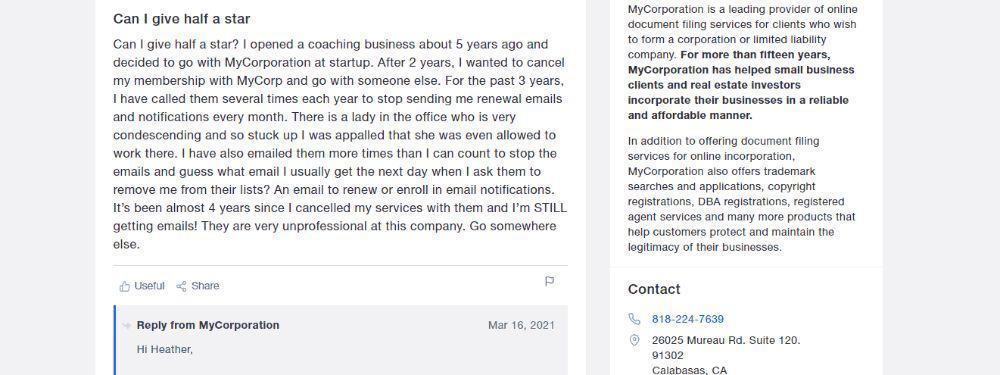 A not so happy customer.