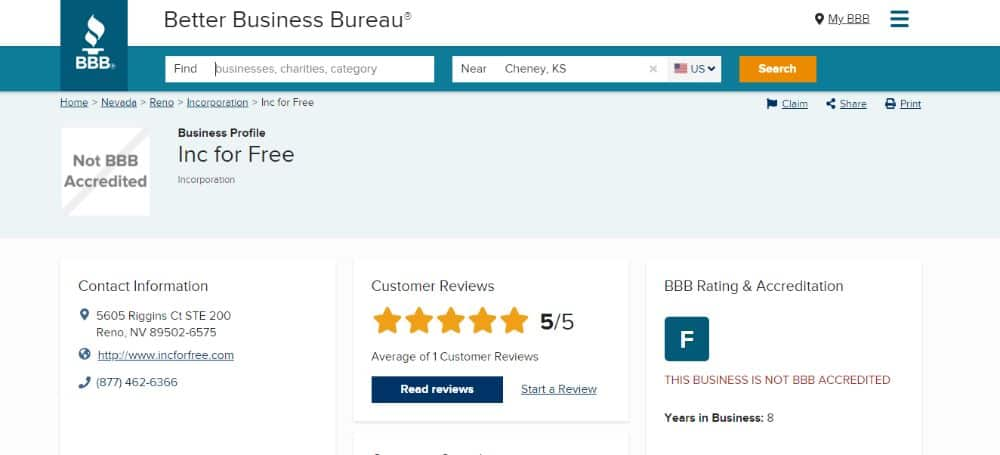 Inc Authority Rating on BBB.