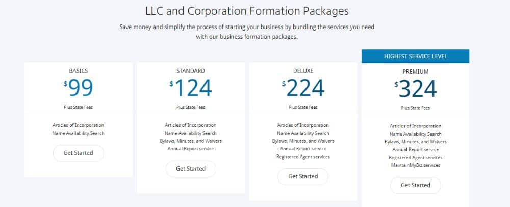 MyCorporation Business Formation Packages.
