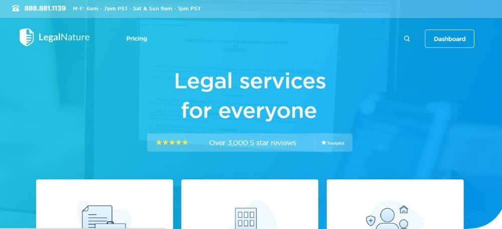 Legal Services with LegalNature