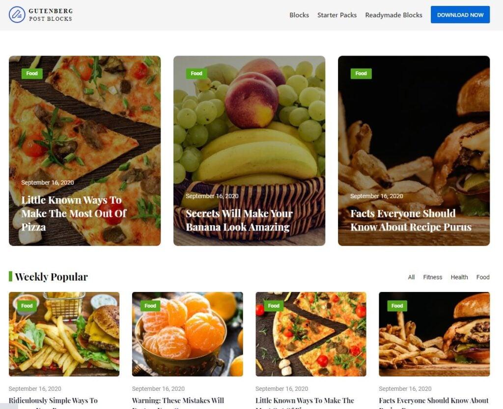 custom home page postx