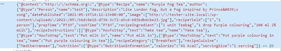 WP Recipe Maker automatic json ld generation