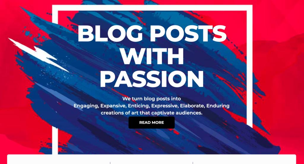 Passion Posts Screenshot